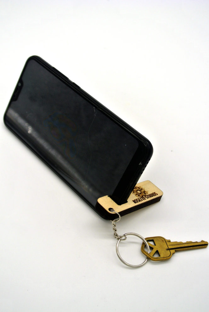 keychain phone stand example