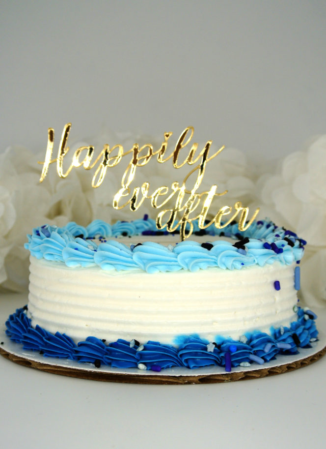 Laser cut cake topper example