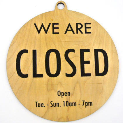 Business open/closed sign