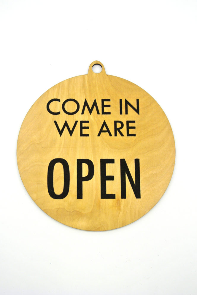 open/ closed sign example