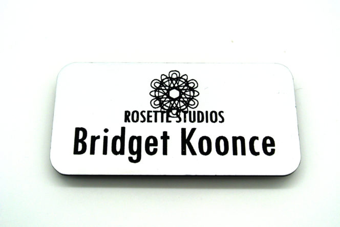 Name tag example