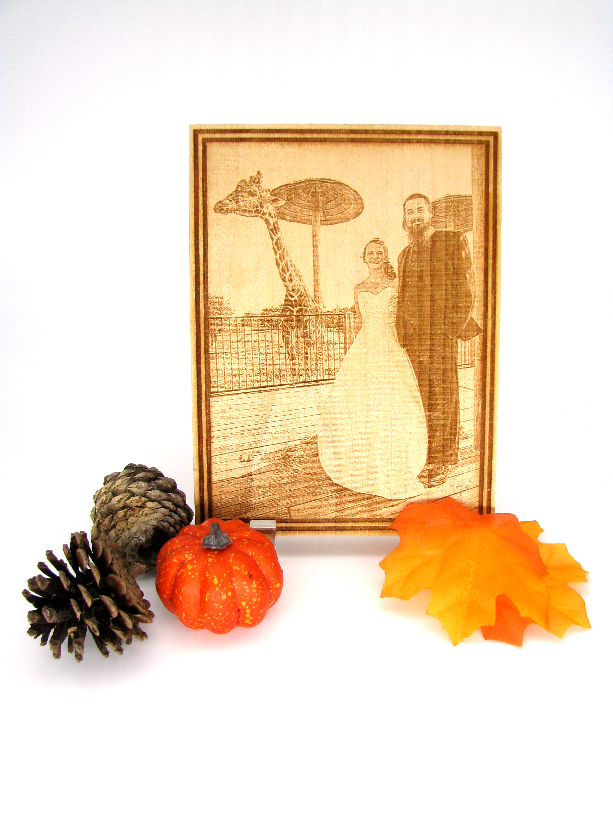 Laser Cut photo engrave example