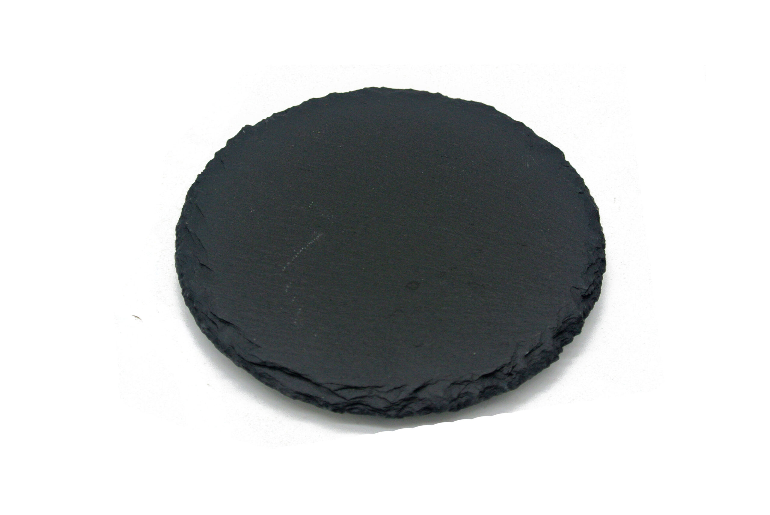 "shows 3"" round slate coaster"