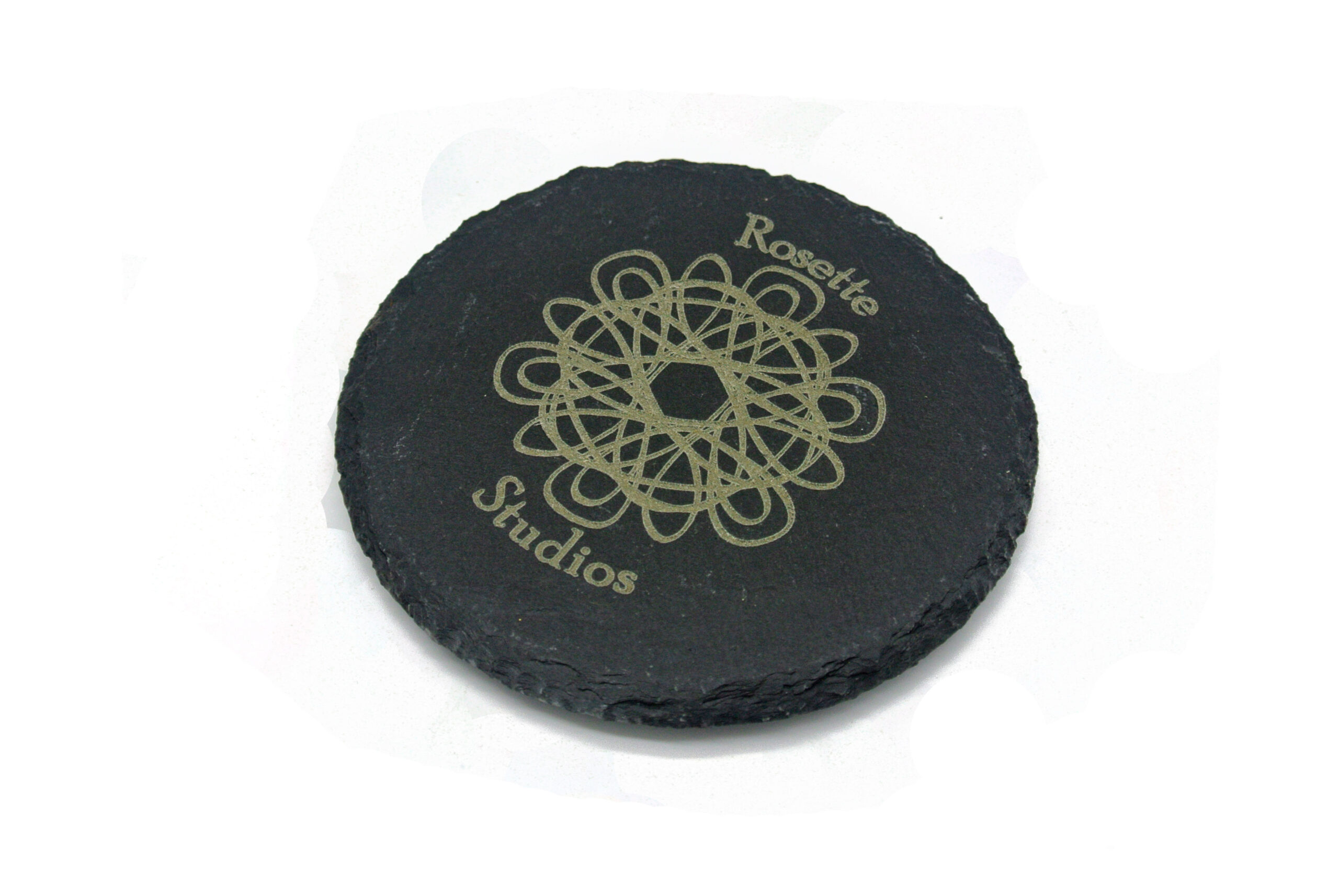 example of round slate coaster