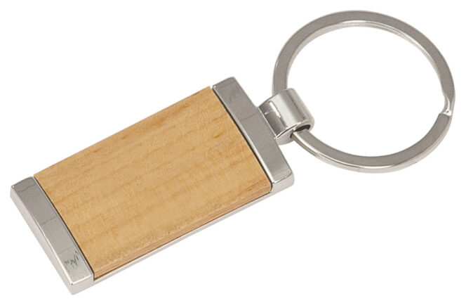 Example of Wood/Silver Keychain