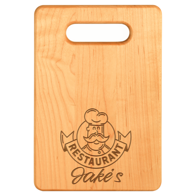 example of engraved maple cutting board
